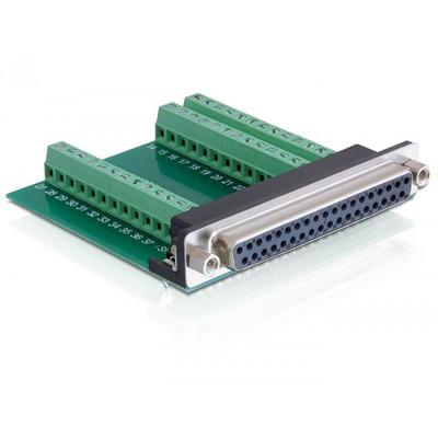 DeLOCK D-Sub 37 pin - 39 pin Terminal Block Interfaceadapter - Zwart,Groen