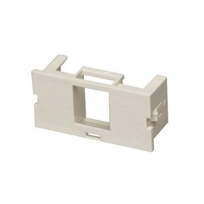 Black Box Surface-Mount Housing Adapter Bezel 1-Port Office White - Wit