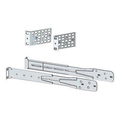 Cisco rack toebehoren: Extension rails and brackets for four-point mounting, includes 19-inch brackets - Zilver