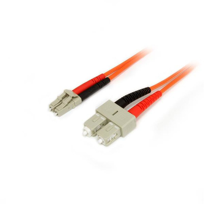 StarTech.com 1m Multimode 50/125 Duplex Glasvezel Netwerkkabel LC-SC Fiber optic kabel