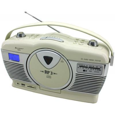 Soundmaster CD-radio: Retro CD/MP3/USB radio, Creme - Beige
