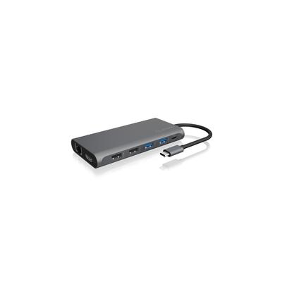 ICY BOX IB-DK4050-CPD Hub - Antraciet