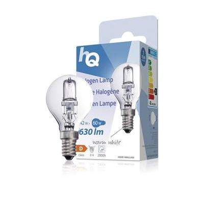 Hq halogeenlamp: Halogen lamp ball E14 42W 630lm 2800K
