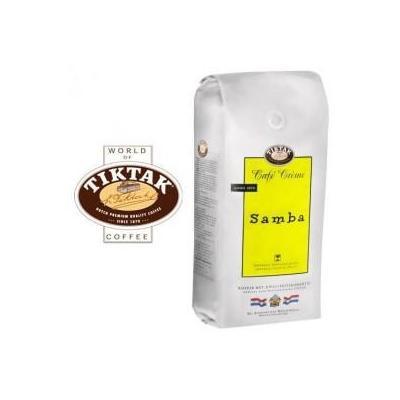 Tiktak koffie: Cafe Creme Samba koffie bonen 6x1000 gram (Prijs per stuk / Minimale o