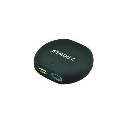 2-power oplader: Car DC adapter, 15 - 20 V, 90 W, 194 g + USB 2.0, 2.1A - Zwart