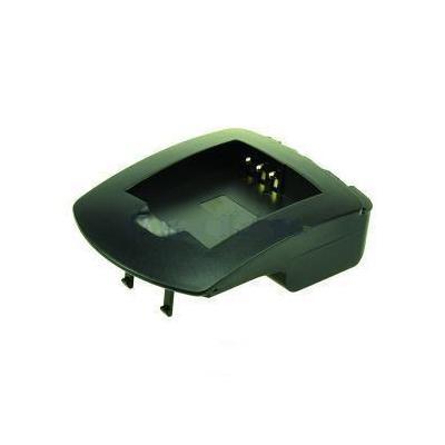 2-power oplader: Charger Plate for - LI-42B, Black - Zwart