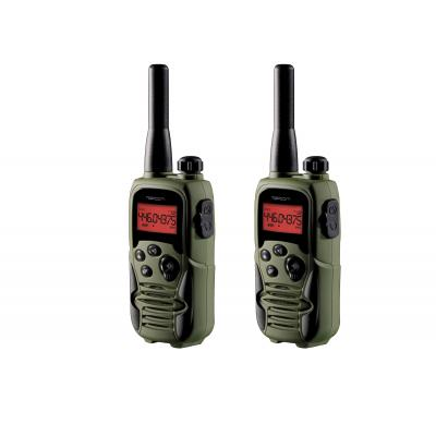 Topcom walkie-talkie: RC-6406 Walkie Talkie - Twinwalker 9500 Airsoft Edition - Zwart, Groen
