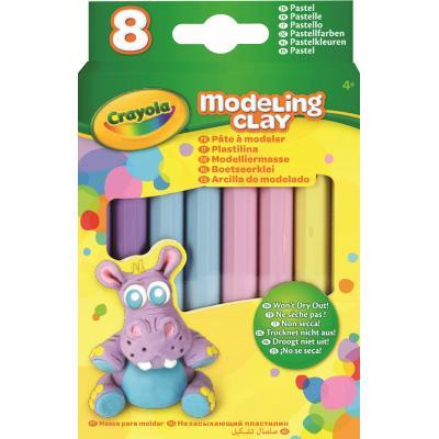 Crayola kinder modellering verbruiksartikel: Boetseerklei - 8 sticks Pastel Kleuren - Multi kleuren