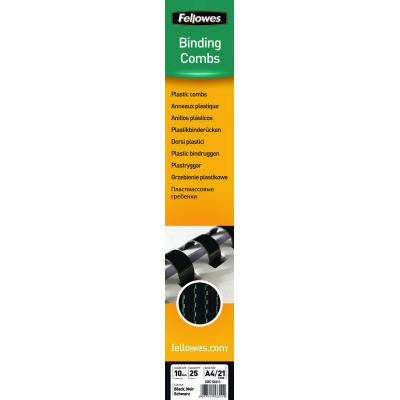 Fellowes inbinder: Plastic bindrug 10mm, zwart