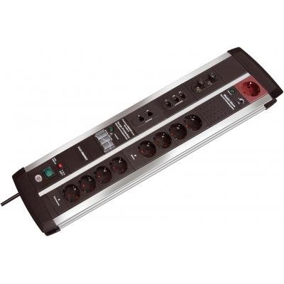Brennenstuhl surge protector: Premium-Protect-Line Automatic extension socket - Zwart