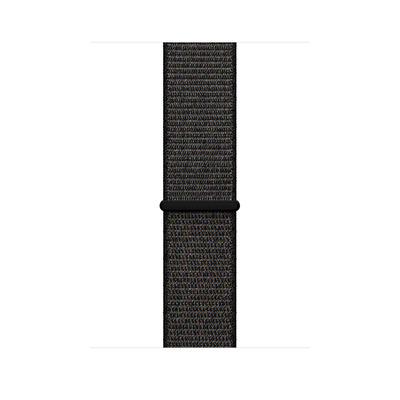 Apple : Geweven sportbandje - Zwart (42 mm)