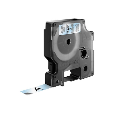 DYMO D1 -Standard Labels - Black on Transparent - 12mm x 7m Labelprinter tape