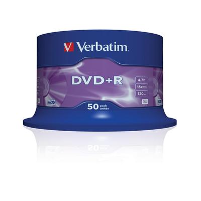 Verbatim DVD+R Matt Silver, 50pcs DVD