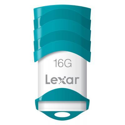 Lexar USB flash drive: 16GB JumpDrive V30 - Turkoois, Wit