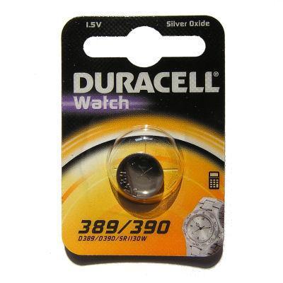 Duracell batterij: D389 - Silver oxide, 1.5 V, 9 g. - Zilver