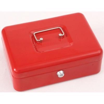 Phoenix geldkistlade: 10″, 90 x 250 x 180 mm, Key Lock, 1.4 kg, Red - Rood
