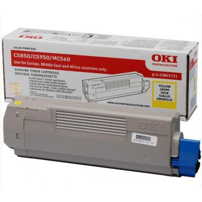 OKI cartridge: Yellow toner for C5850/5950
