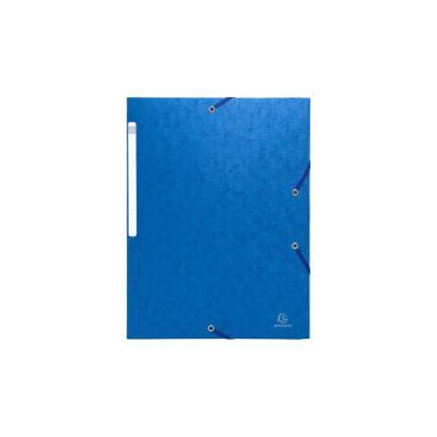 Exacompta ElastoNature Future gekorreld glanskarton A4, 600 g/m², blauw (verpakking 25 stuks) Map