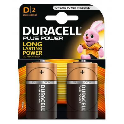 Duracell batterij: Plus Power alkaline D-batterijen, verpakking van 2