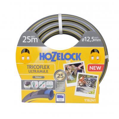 Hozelock tuinslang: Tricoflex Ultramax slang Ø 12.5 mm 25 meter - Grijs, Geel