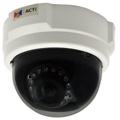 "Acti beveiligingscamera: 1MP, 720p, 30 fps, 1/4"" CMOS, Fast Ethernet, PoE, 4.26 W, 292 g - Wit"