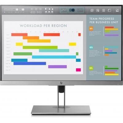 Hp monitor: EliteDisplay E243i - Zwart, Zilver