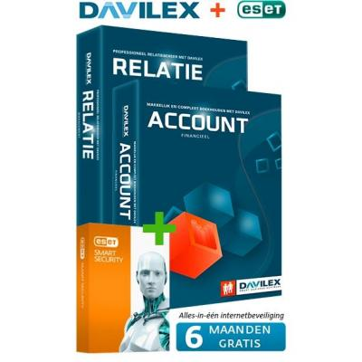 Davilex boekhoudpakket: Account + Gratis Relatie + half jaar Gratis ESET Smart Security