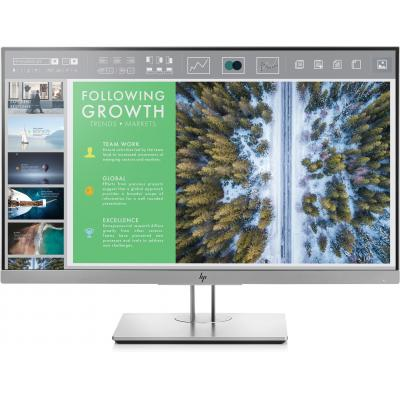 Hp monitor: EliteDisplay E243 - Zwart, Zilver