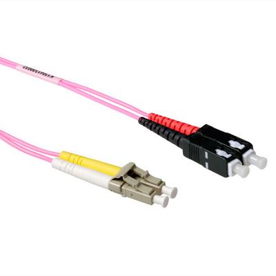 ACT 30m 50/125µm OM4 Fiber optic kabel - Blauw