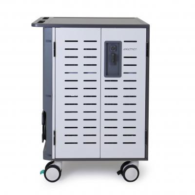 Ergotron Zip40 iPad kar Portable device management carts & cabinet - Zwart, Grijs