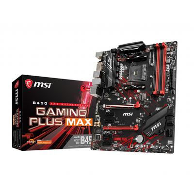 MSI B450 GAMING PLUS MAX, AMD B450, AM4, 4x DDR4, PCIe 3.0 x16, SATA III, M.2, DVI-D, HDMI, USB 3.2, ATX, 305x244 mm .....