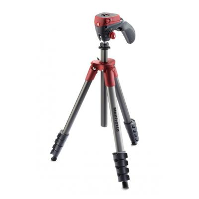 Manfrotto tripod: Compact Action Red - Rood