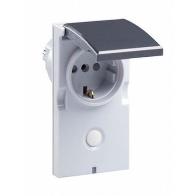 Z-wave.me elektrische fitting koppelaar: Plugin Switch, IP44 - Grijs, Wit