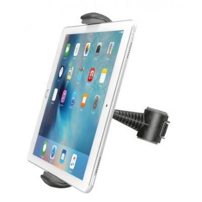 """Trust houder: Car headrest, Fits tablets up to 14"""", 155-255mm, Black - Zwart"""