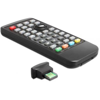 Delock afstandsbediening: Universal Remote Control incl. Infrared Receiver for Windows - Zwart