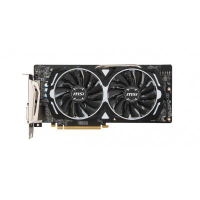 MSI Radeon RX 580, 8GB GDDR5, PCI Express x16, DisplayPort x 2 / HDMI x 2 / DL-DVI-D Videokaart - Zwart, Wit