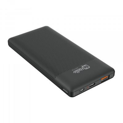 BeHello 10000 mAh, zwart, QC 3.0, 18 W Powerbank