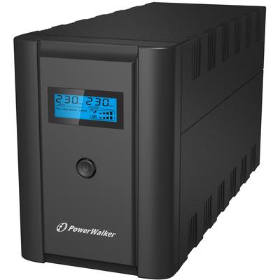 PowerWalker VI 1200 LCD/IEC UPS - Zwart