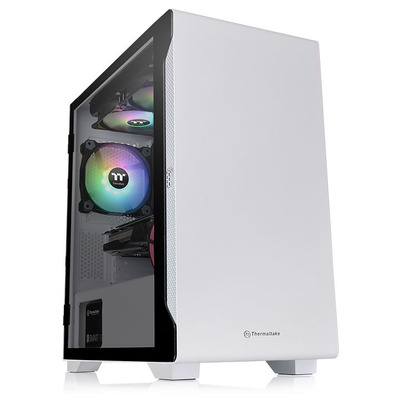 Thermaltake S100 Tempered Glass Snow Edition Behuizing - Wit