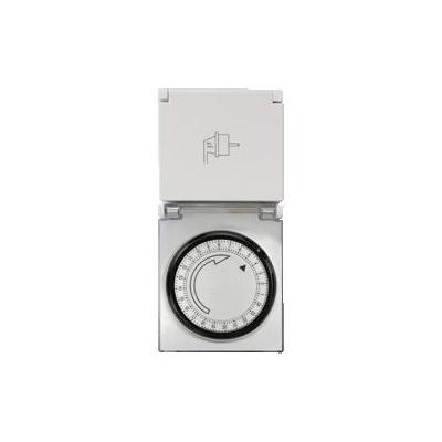 Logilight elektrische timer: Mechanical Time Switch, IP44, 230 VAC, 50Hz, 16A, 3500W - Grijs