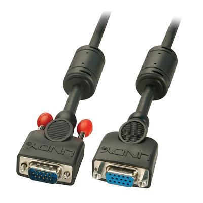 Lindy 5.0m VGA M/F VGA kabel  - Zwart