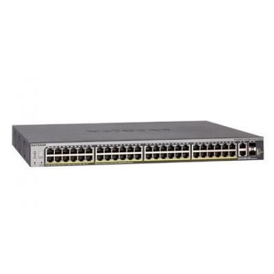 Netgear ProSAFE S3300-52X-PoE+ 52-Port Stackable PoE Switch - Zwart