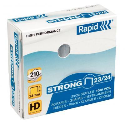 Rapid nietjes: Staples Strong 23/24 Galvanized Box of 1000 - Roestvrijstaal