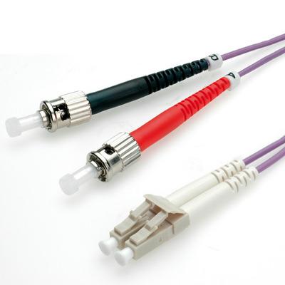 ROLINE 0.5m LC/ST Fiber optic kabel - Violet