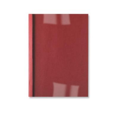Gbc binding cover: LeatherGrain ThermaBind Bindomslagen 1,5mm Rood (100) - Rood, Transparant
