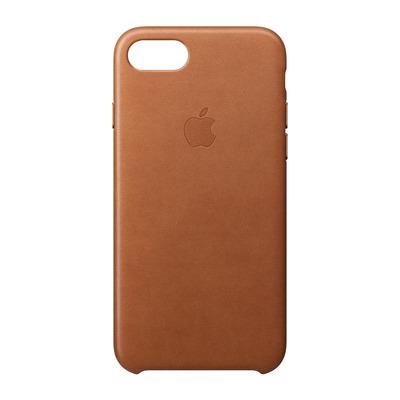 Apple mobile phone case: Leren hoesje voor iPhone 8/7 - Zadelbruin