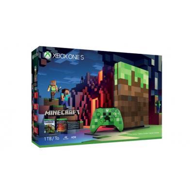 Microsoft spelcomputer: Xbox One S Minecraft Limited Edition Bundle 1TB - Wit