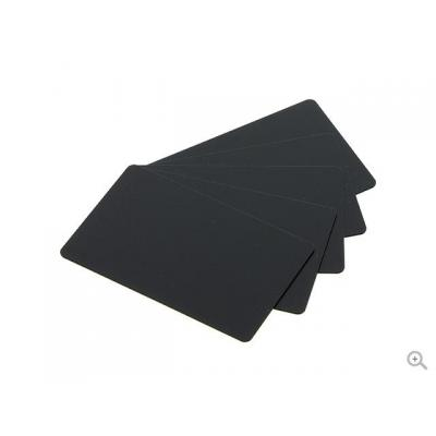 Evolis PVC-U mat black cards, 500 pcs Lege plastic kaart - Zwart