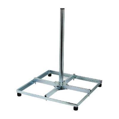 König : Gegalvaniseerde stalen balkonstandaard bigfoot 4 x 30 x 30 cm - Zilver