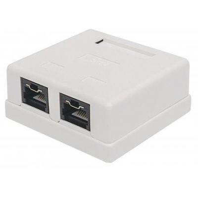 Intellinet : 2 Port, UTP, Mount Box, Locking Function, White - Wit